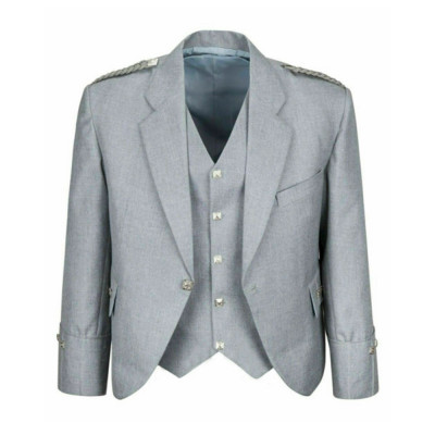 Grey Argyle Jacket