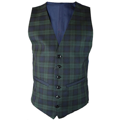 Modern Black Watch Tartan Vest