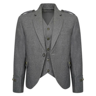 Wool Argyle Jacket